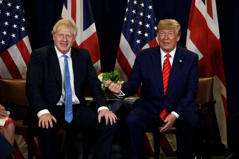 The leaked Department for International Trade documents contain discussions between UK and US officials over a possible future trade deal (Photo: Evan Vucci/AP/Shutterstock)