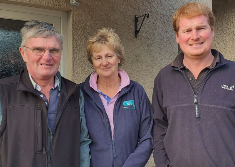 Michael Williams (R) returned home to the farm in 2006 and after a few years became a partner with his parents in the business