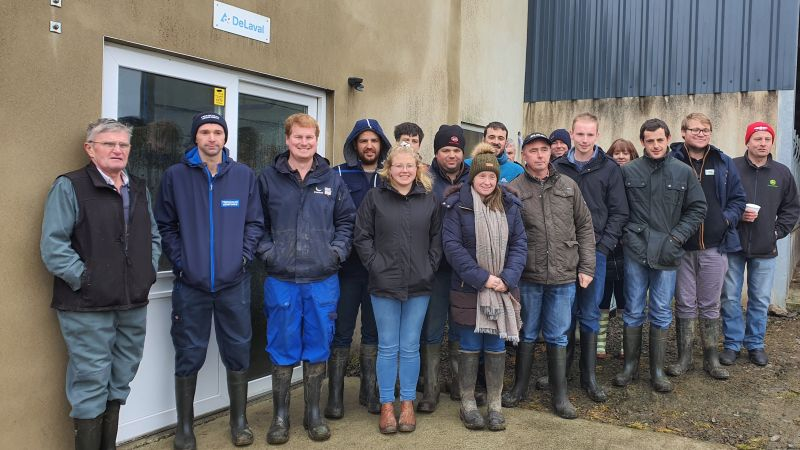 A group of young farmers toured the farm as part of the Farmers