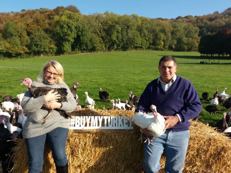 The campaign encourages shoppers to buy their Christmas turkey direct from the farm where it was produced