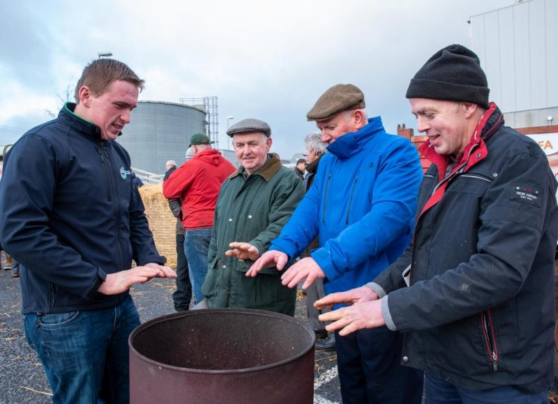 The Irish farmer protest focused on Tesco's distribution centre and lasted around 12 hours (Photo: IFA)