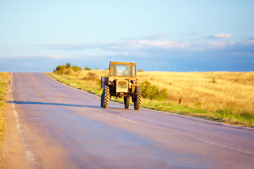 The farmer wasn't insured to drive his tractor for social purposes, the court heard