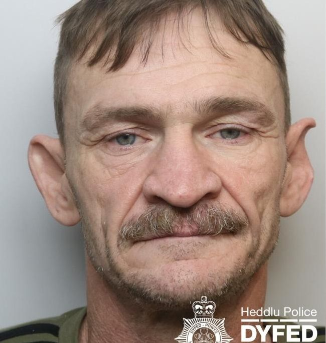 Jeffrey Wayne Bevan was sentenced at Swansea Crown Court (Photo: Heddu Police Dyfed Powys)