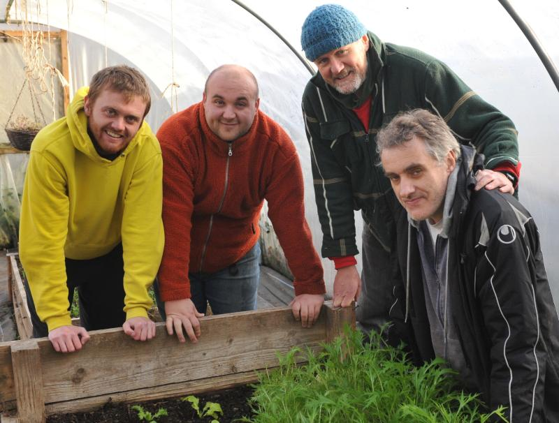 Jim Bowen (second right) provides guidance to other farmers considering establishing a care farm