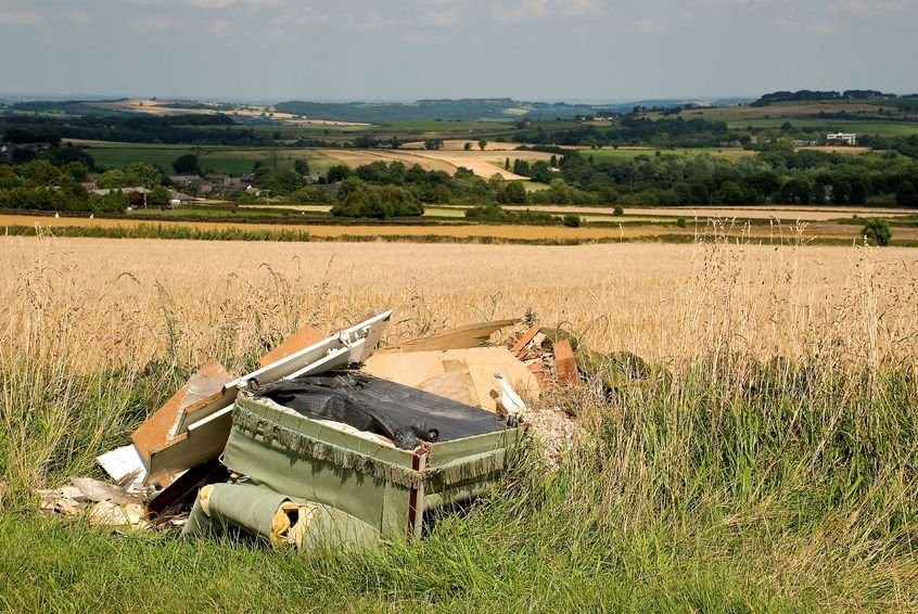 Figures show a surge in incidents where rubbish is being dumped on farm land and blighting the countryside