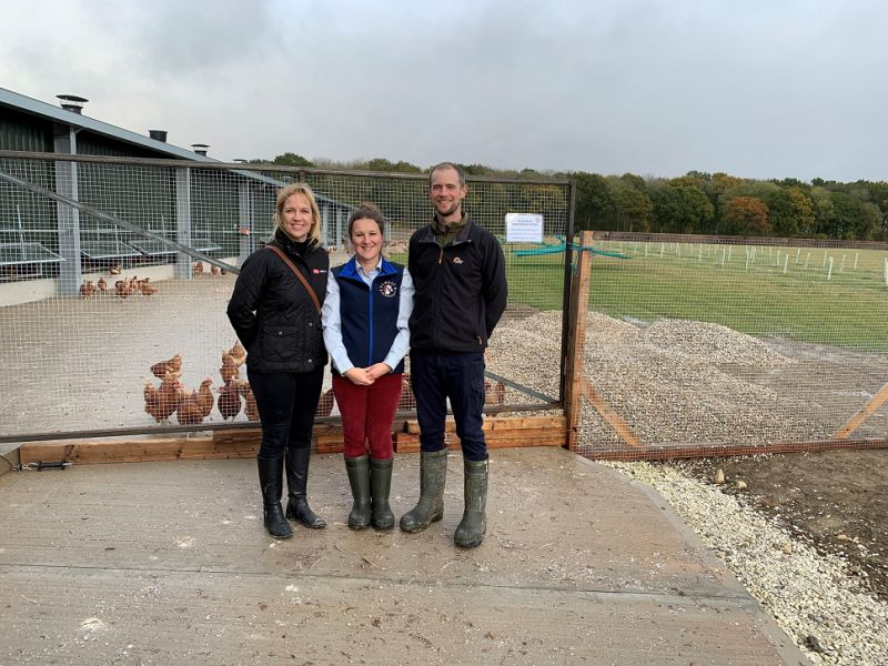 The project has created eight new full and part time job roles and an average daily production of 30,000 eggs