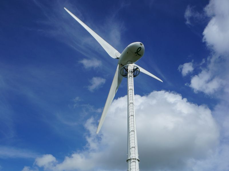 An Endurance E3120 wind turbine