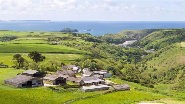The Pembrokeshire county farm, located near Solva, dates back to the 14th century