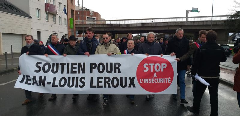 Farmers protested against the man's detention during a mass rally on Thursday (Photo: FDSEA de la Marne/Facebook)