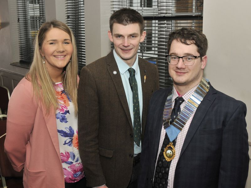Dewi Parry (R) has promised big changes after being elected the new NFYFC chairman