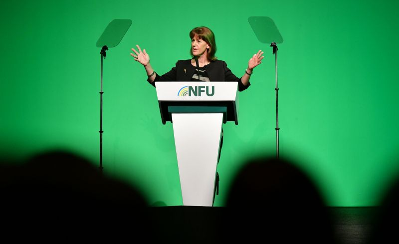 NFU's President Minette Batters called for the government to enshrine into law legislation which protects British farming's standards