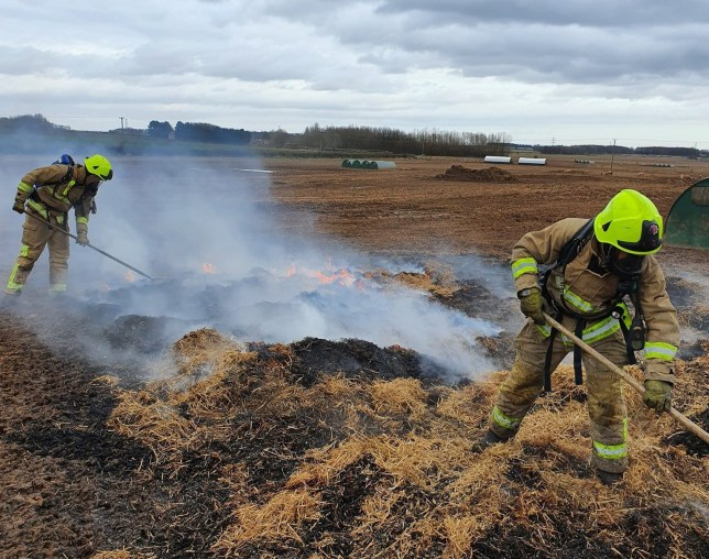 The farm fire covered 75 square metres (Photo: North Yorkshire Fire and Rescue/Twitter)