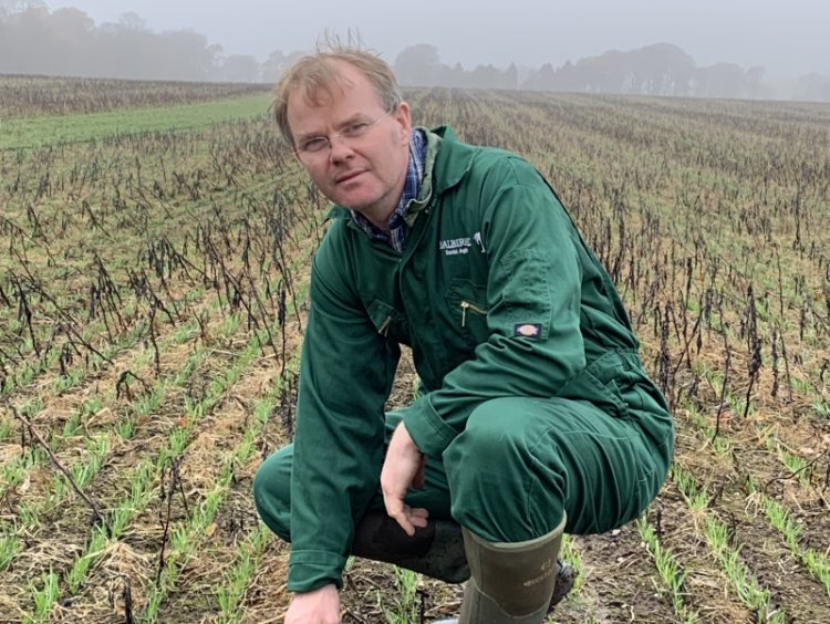 Farm manager David Aglen, of Balbirnie Home Farms in Fife, has been appointed the first host farmer for the project in Scotland