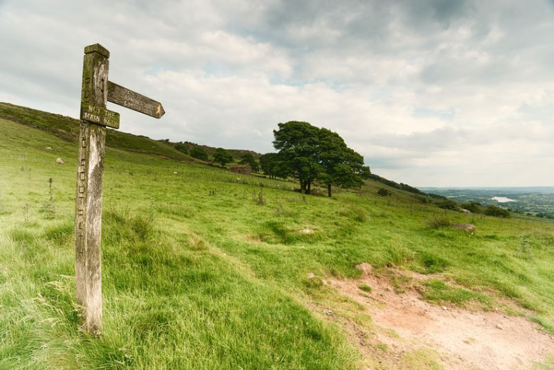 The Peak District farmer was left 'shaken and bruised' after the assault, police said
