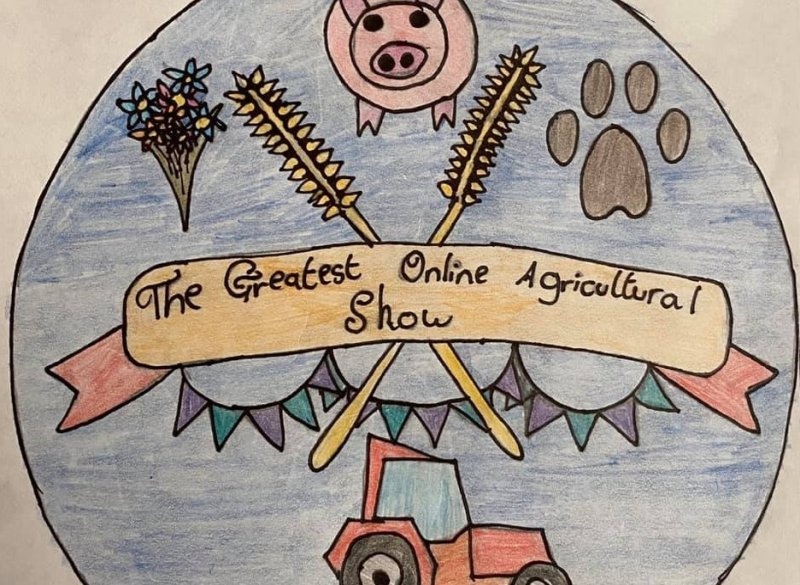 One social media competition asked under-16's to design the event's logo (Photo: Greatest Online Agricultural Show/Twitter)