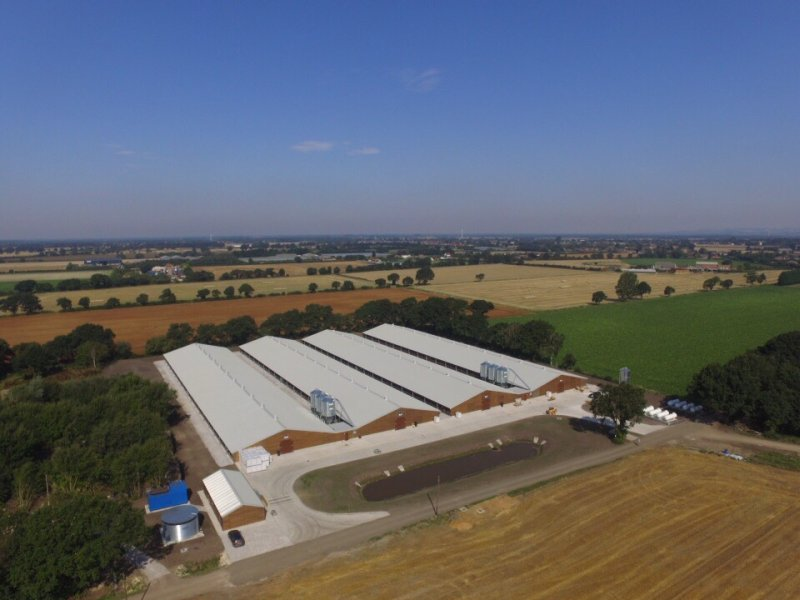 Ecologically-friendly poultry sheds have been built as part of a farming business's diversification plan