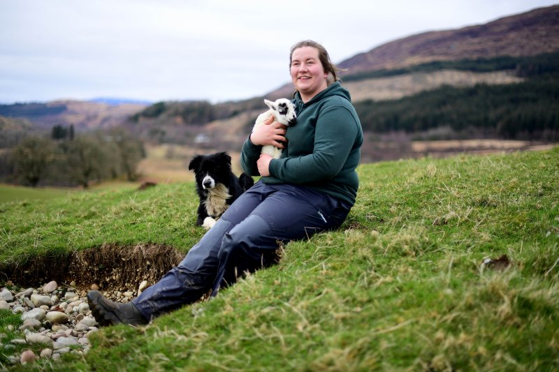 Chloe Malcolm's appointment is a change in the usual demographic for a farm manager in Scotland, as only 16% are female