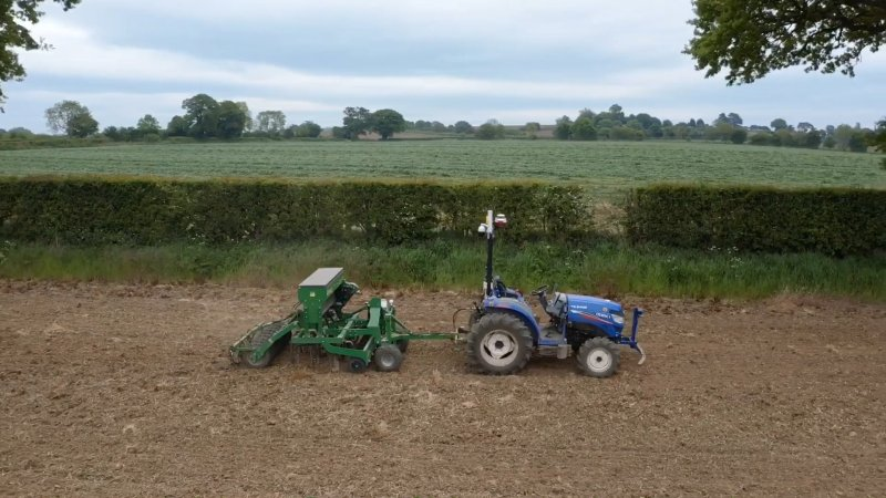 The team have successfully drilled two of their fields with the cover crop, while abiding by social distancing guidance