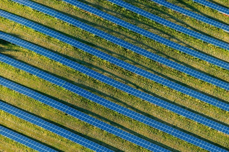Britain's largest solar farm is to begin development on hundreds of acres of farmland in Kent (Stock photo)