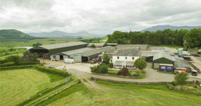The Lake District hill farm is located in a secluded location with panoramic views of the surrounding countryside (Photo: H&H Land & Estates)