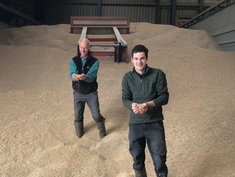 James Turner manages Brackenburgh Home Farm, an 800-hectare mixed farming enterprise, with trainee manager Henry Scholefield