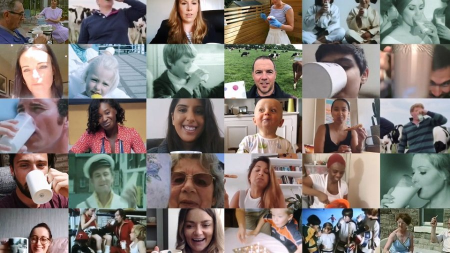 The new dairy advert will feature a selection of iconic British milk adverts seen on screens over the years