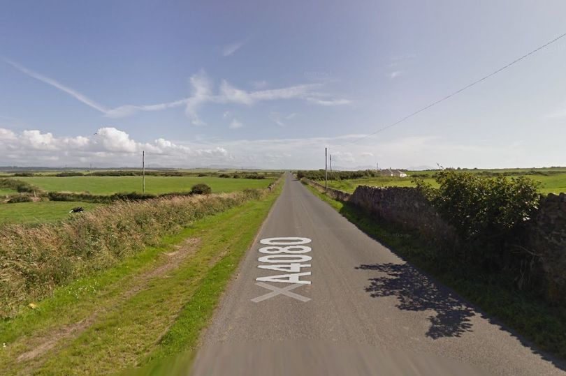 The road incident happened on the A4080 from Aberffraw to Llanfaelog (Photo: Google)