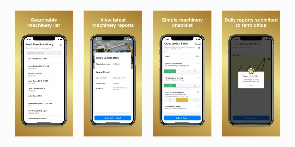 The app has the functionality for farmers to upload pictures of any specific machinery issues