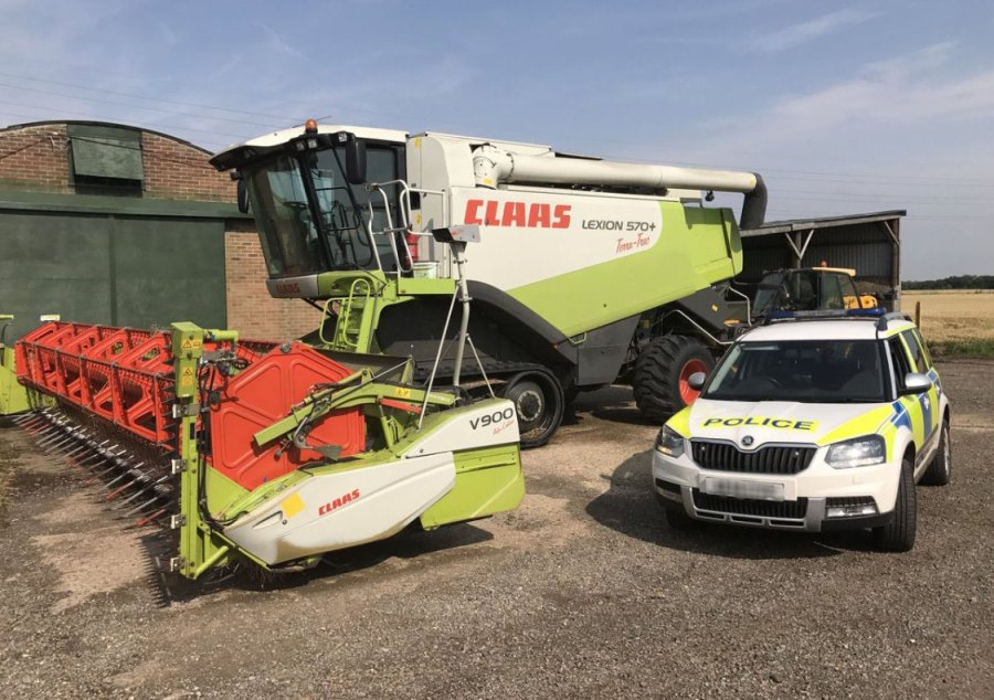 Criminals stole GPS guidance screens worth over £10,000 from eleven tractors at the farm