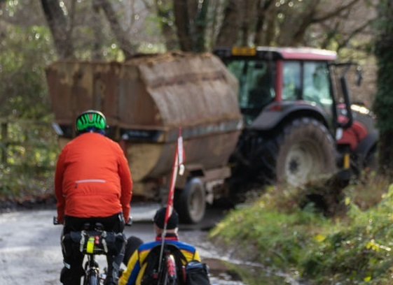 In 2018, rural insurer NFU Mutual's claims involving agricultural vehicles and pedal bikes totalled over £22 million