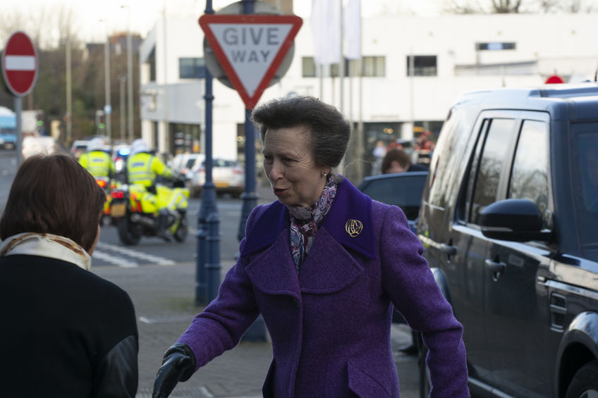 Princess Anne has urged people to think more about the impact of waste