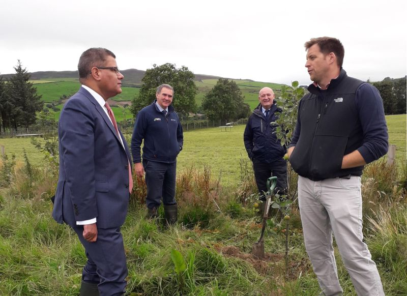 The farm visit provided the Secretary of State with an insight into the farming industry's environmental ambitions
