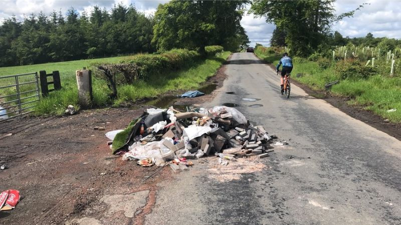 The fly tipping clear up operation lasted four hours and cost £2,000