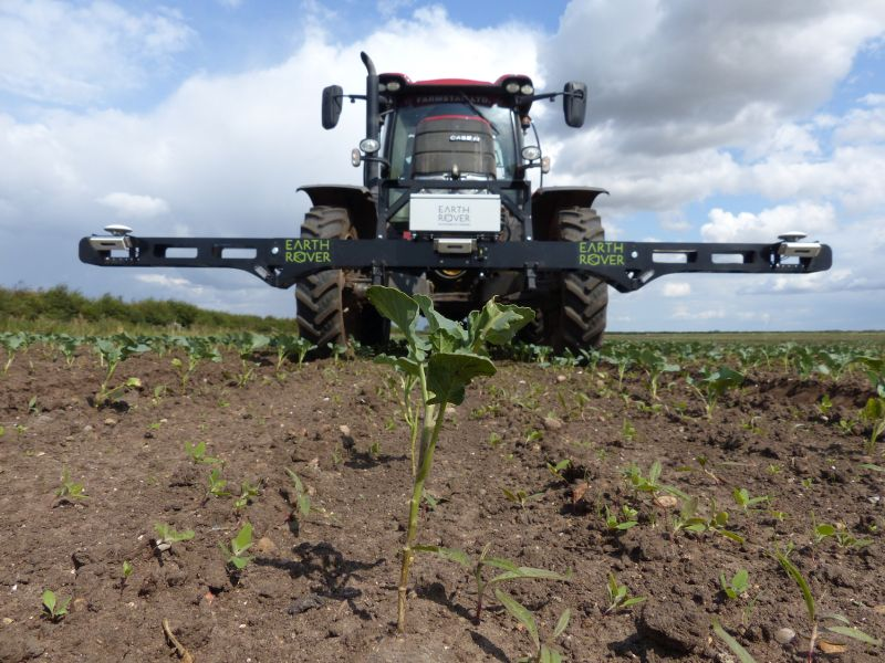 Earth Rover uses cameras fitted to a tractor to scan the plants and measure their growth