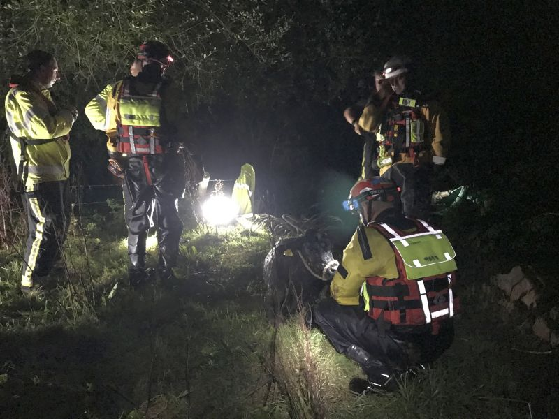 River conditions at the scene were described as fast-flowing and dangerous