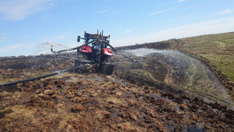 Farmer's son Dan Fowler, who now works for United Utilities, was the first to spot the potential for agricultural machinery to tackle wildfires