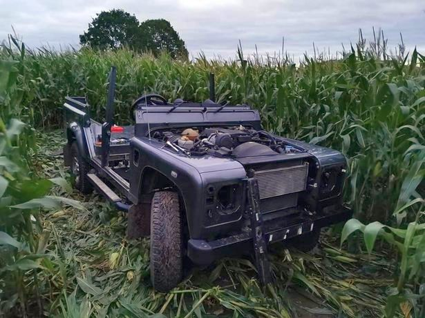 The stolen vehicle was in the process of being stripped of its parts, according to police (Photo: Warwickshire Police Operational Patrol Unit)