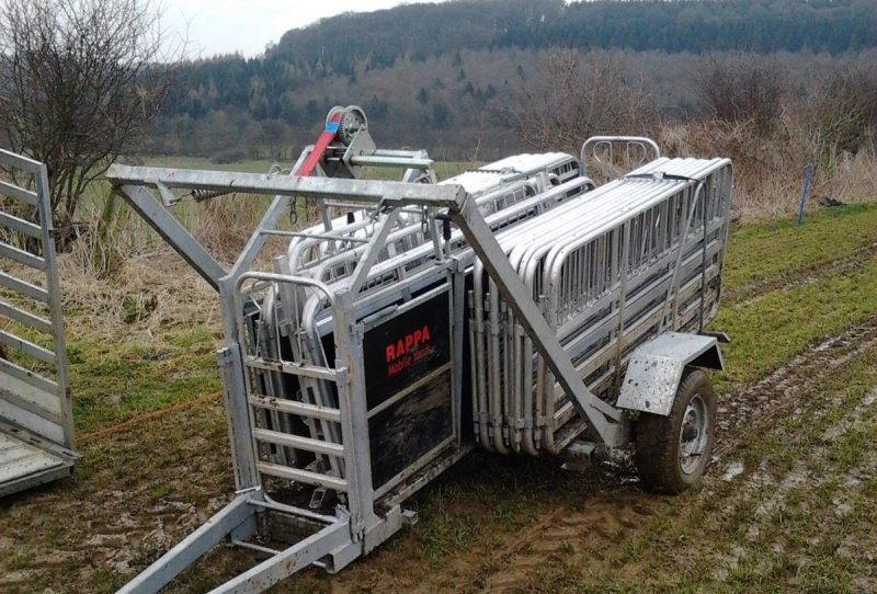 The local community have been urged to keep an eye out for the stolen sheep handling system