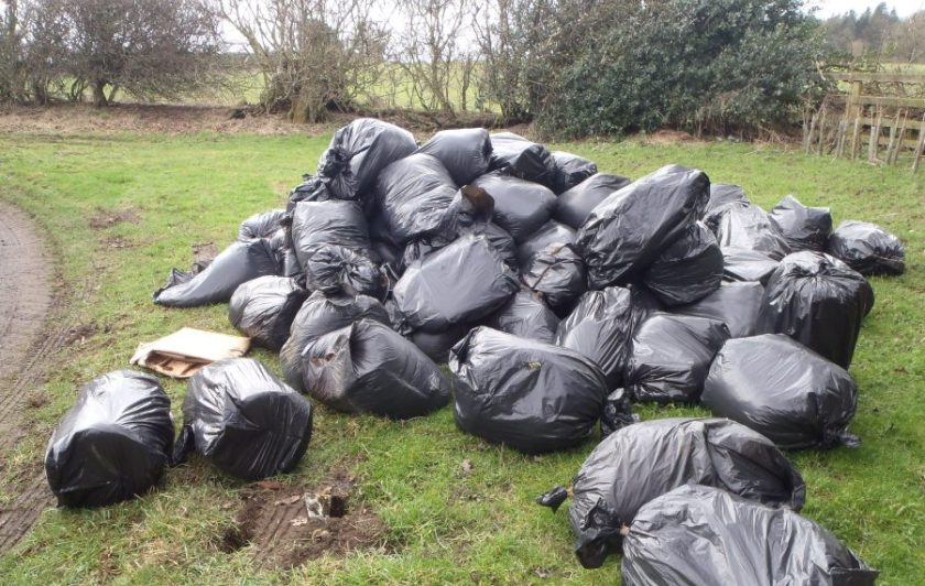 The remains of 'cannabis farms' are often dumped in rural locations, leaving farmers to foot the bill and clear up the mess