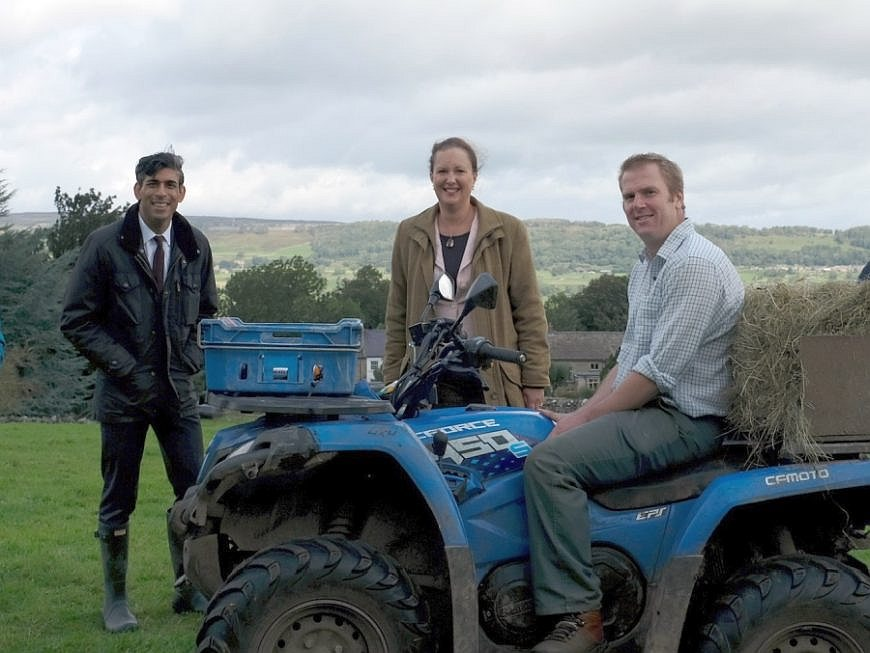 Rishi Sunak visited farms in his constituency in Yorkshire to see the process of environmental land management projects