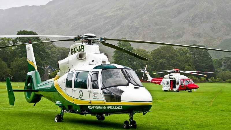 Emergency services, including the Great North Air Ambulance Service, were called to the scene of the incident (Photo: GNAAS)