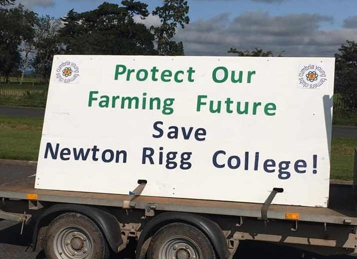 Over eighty tractors took part in the event which protested against the college's closure (Photo: Cumbria YFC)