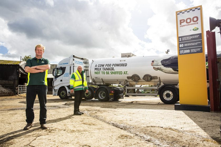 Manure from 500 cows – around 190 tonnes of slurry each week – will create 27,000kg of biofuel to power the trial vehicles