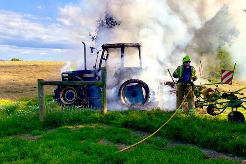 Cost of tractor fires reported to NFU Mutual reached £19m in 2019 (Photo: Launceston Community Fire Station)