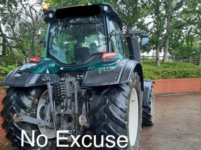The man left a valuable tractor running while he did the supermarket shop (Photo: Dorset Police No Excuse/Facebook)
