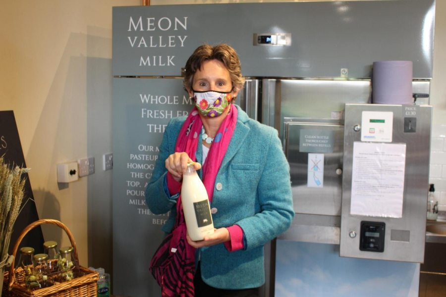 The business has also launched a fresh milk vending machine