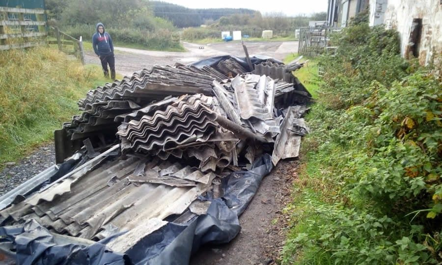 A load of asbestos was dumped at Broats Farm in the early hours of Friday 16 October