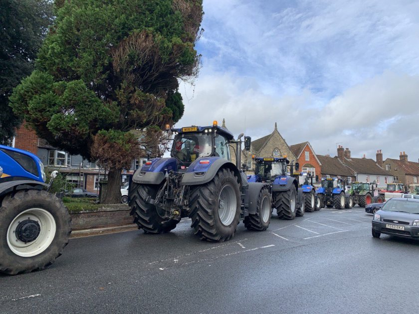 Farmers demonstrated on Friday against moves to permit lower-quality food imports post-Brexit (Photo: Save British Farming)
