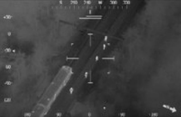 The footage, taken on-board the National Police Air Service aircraft, shows 300 people gathered on the farm despite Covid rules