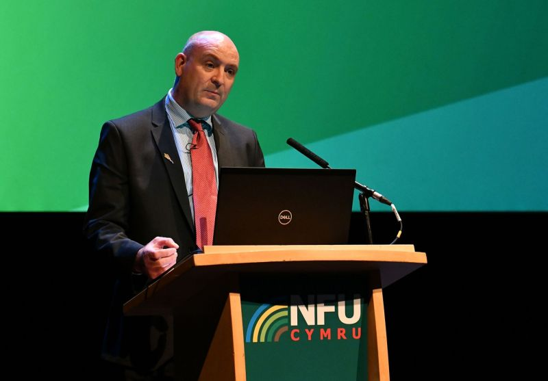 NFU Cymru President John Davies will warn of the challenges facing Welsh farming